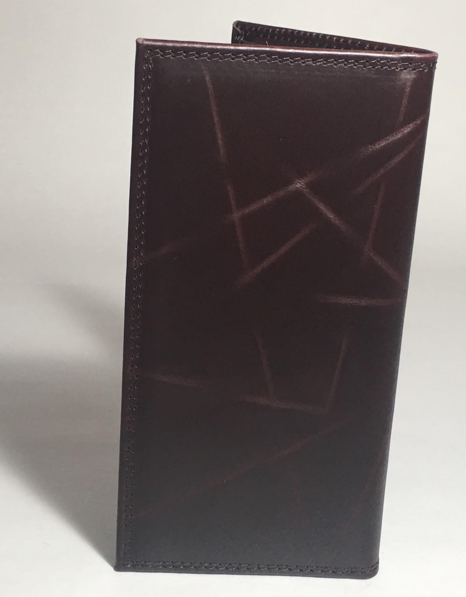 Arkansas Razorback Brown Wrinkle Concho Checkbook Wallet