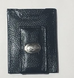 Arkansas Razorback Leather Concho Money Clip Wallet