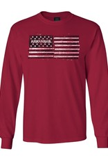 Arkansas Razorback Baseball / Softball Flag Long Sleeve Tee