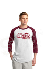 Arkansas Razorback Omahogs All Gas 3/4 Sleeve