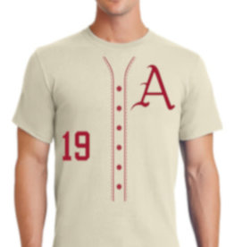 Cream Razorback Baseball Shirsey