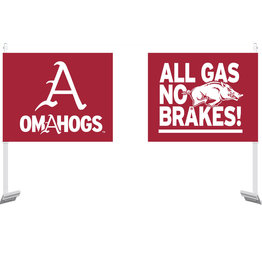 Stadium Shoppe Original All Gas No Brakes OMAHOGS Car Flag
