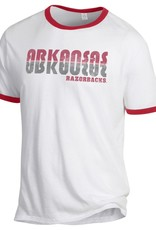 Alternative Retro Arkansas Razorback Ringer Tee By Alternative