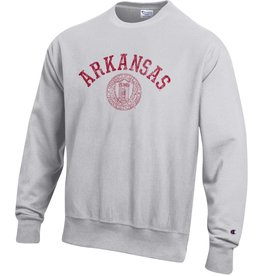 Champion Razorback School Seal Inside out Reverse Weave