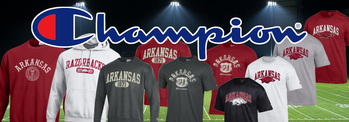 Arkansas Razorback Clothing By Champion