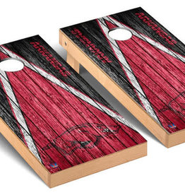 Victory Tailgate Arkansas Razorbacks Regulation Cornhole Game Set Triangle Weathered Version