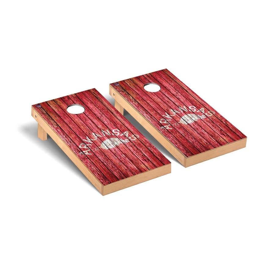 Victory Tailgate Arkansas Razorbacks Vintage Wood Panel Cornhole Game Set