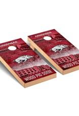 Victory Tailgate Arkansas Razorbacks Regulation Cornhole Game Set Stadium Version