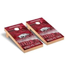 Victory Tailgate Arkansas Razorbacks Regulation Cornhole Game Set Stadium Version