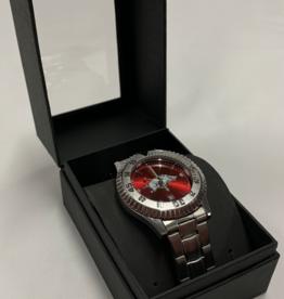 Jardine Arkansas Razorback Competitor Steel Watch - Red Face