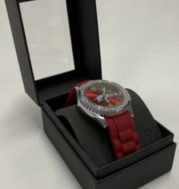 Jardine Arkansas Razorbacks Women's Sparkle Watch -  Red Face