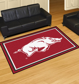 Fan Mats 5X8 Plush Razorback Area Rug