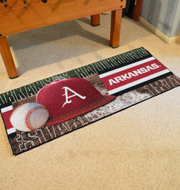 "Fan Mats 30"" X 72"" Arkansas Baseball Runner"