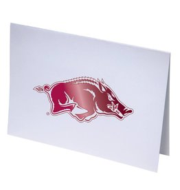 Overly Razorback Foil Note Card