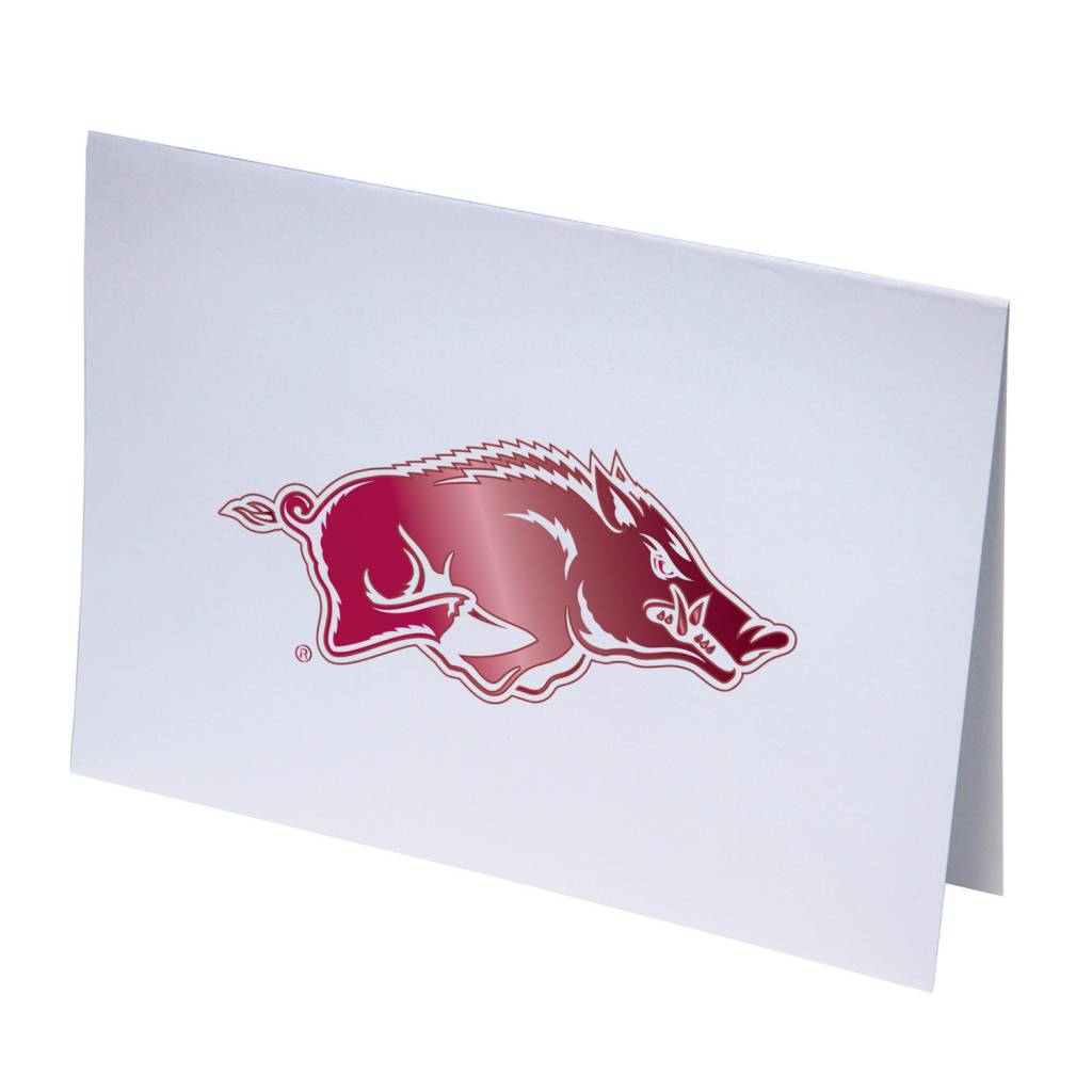 Overly Arkansas Razorback Foil Note Card