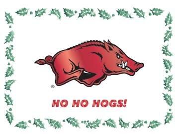 Overly Christmas.Ho Ho Hogs Arkansas Razorback Christmas Cards