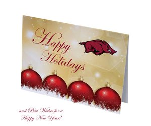 Overly Christmas.Overly Arkansas Razorbacks Happy Holidays Christmas Cards