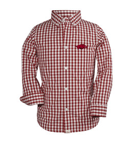 Razorback Logan Youth Button Down Dress Shirt