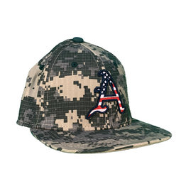 The Game Razorback Baseball Stretch Fit Flat Bill CAMO Hat