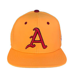 The Game Gold Razorback Baseball Stretch Flat Bill Perforated Hat