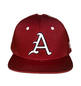 The Game Razorback Baseball Stretch Flat Bill Perforated Team Hat