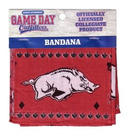 Jenkins Arkansas Razorback Traditional Bandana