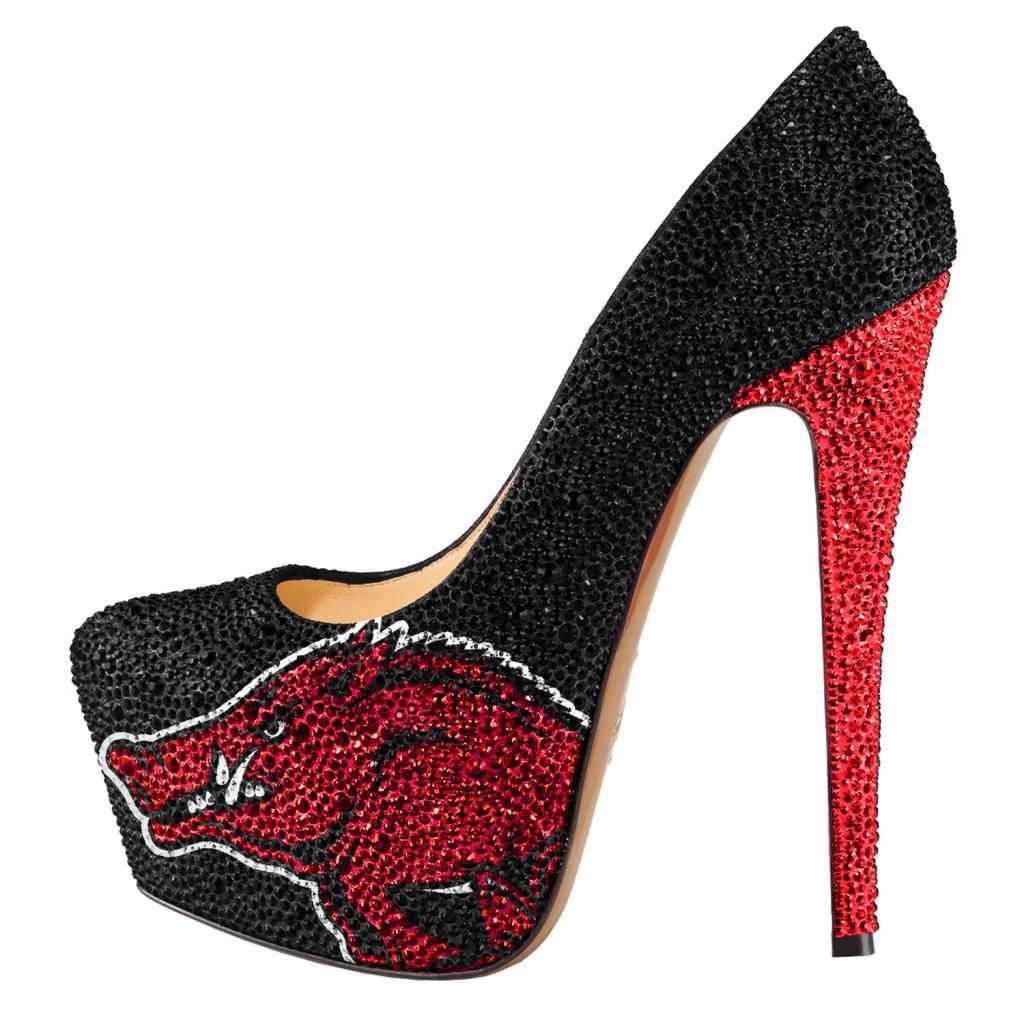 Arkansas Razorback Women s Crystal Platform High Heel Shoe By ... 46a66a67dd