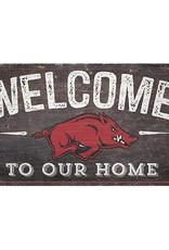 """Fan Creations 11"""" X 19"""" Razorback Welcome Sign"""