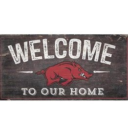 "Fan Creations 11"" X 19"" Razorback Welcome Sign"