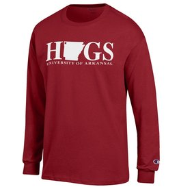 Champion HOGS with State Long Sleeve Tee