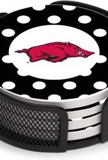 Thirstystone Razorback Polka Dot Coaster set In Mesh By Thirstystone