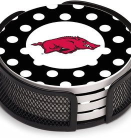 Thirstystone Razorback Polka Dot Coaster set In Mesh By Thirstystone