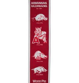 Winning Streak Sports LLC Razorback Felt Heritage Banner