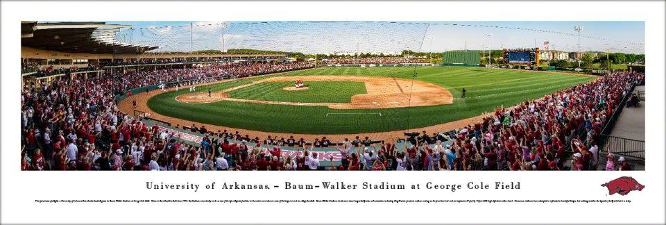 Blakeway Panorama Razorback Baseball Stadium Panorama Print