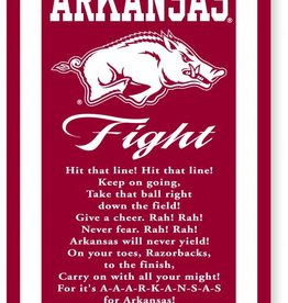 Collegiate Pacific Arkansas Razorback Fight Song Banner