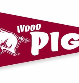 Collegiate Pacific Left Running Hog Wooo Pig 9x24