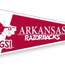 Collegiate Pacific Vintage Razorback Running Hog / Go Hogs Old School White