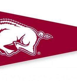 Collegiate Pacific Arkansas Razorback Running Hog Felt Pennant  6 x 15