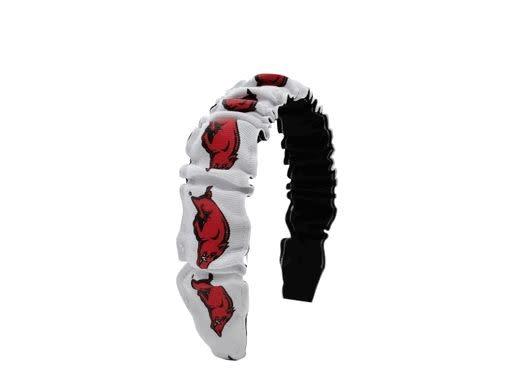 USA Licensed Bows Razorback Ruffle Headband