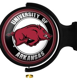 The Fan-Brand Razorback Original Round Rotating Lighted Wall Sign DS