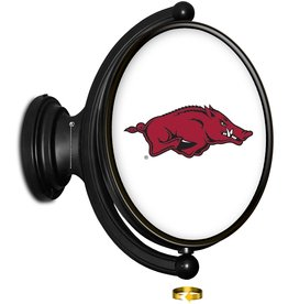 The Fan-Brand Razorback Original Oval Rotating Lighted Wall Sign DS