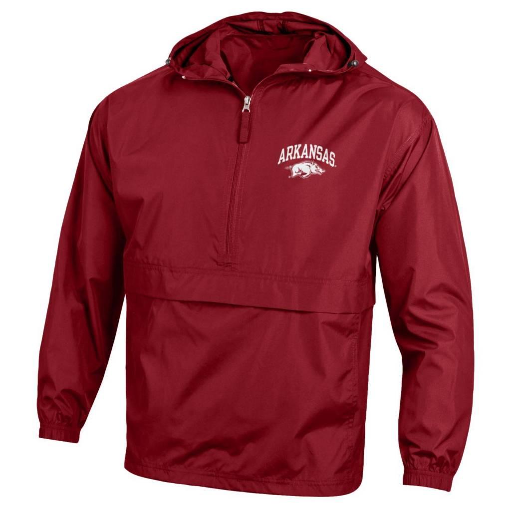 Champion Arkansas Razorback Pack & Go Rain Jacket By Champion