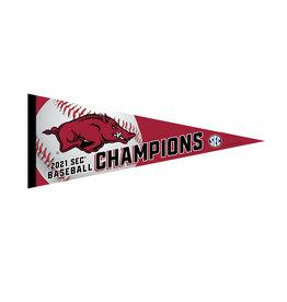 Wincraft 2021 Razorback SEC Baseball Champ Premium Pennant