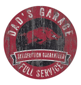 "Fan Creations 12"" Razorback Dad's Garage Sign"