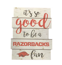 """Wincraft Razorback 11""""X14"""" Good To Be Wall Sign"""