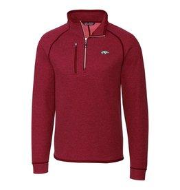Cutter & Buck Razorback Men's Mainsail Sweater-Knit Half Zip Jacket