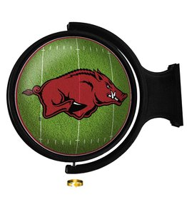 The Fan-Brand Razorback Football Rotating Lighted Wall Sign