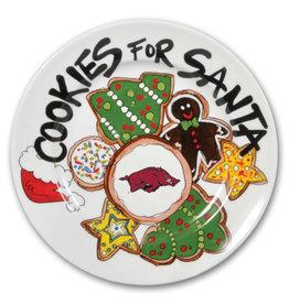 Magnolia Lane Razorback Cookies For Santa Ceramic Plate