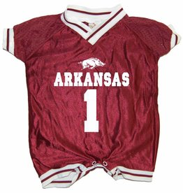 Little King Razorback Football Jersey Romper