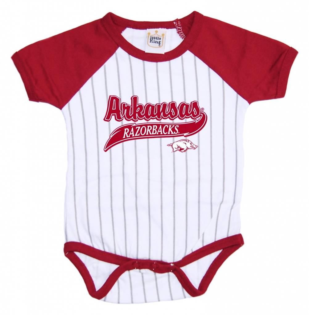 Razorbacks Infant Baseball Stripe Romper By Little King The Stadium Shoppe On Razorback